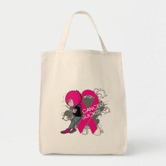 Animated Boy Cancer Sucks - Breast Cancer Bag