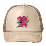 Animated Boy Cancer Sucks - Breast Cancer Trucker Hats
