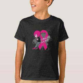 Animated Boy Cancer Sucks - Breast Cancer T-Shirt