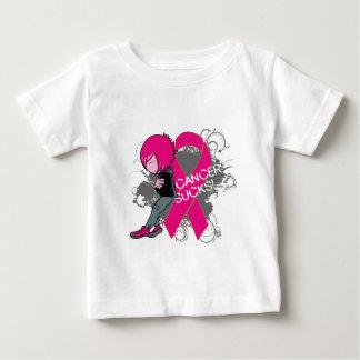 Animated Boy Cancer Sucks - Breast Cancer T Shirt