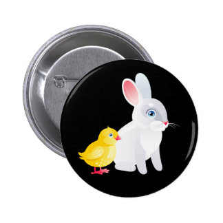 Animated Bunny and Chicken Button