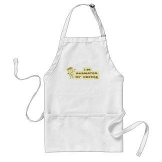 ANIMATED BY COFFEE ADULT APRON