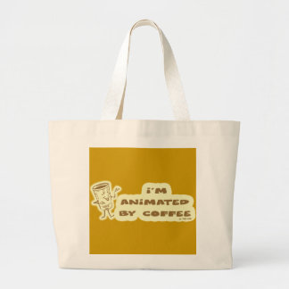 ANIMATED BY COFFEE LARGE TOTE BAG