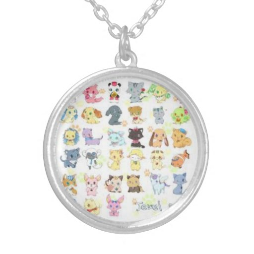 Animated cat necklace