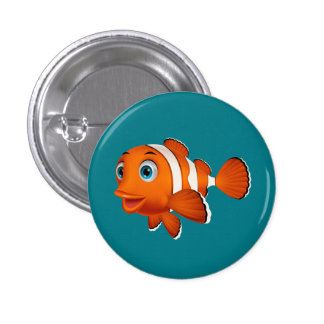Animated Clown Fish Button