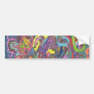 Animated Color, original abstract Bumper Sticker