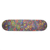 Animated Color, original abstract Skateboard