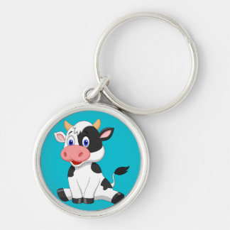 Animated Cow Keychain