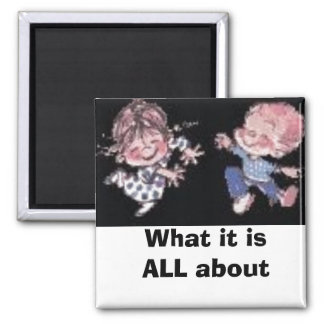 animated_cute_dancing_kids_Hiugspic, What it is... 2 Inch Square Magnet