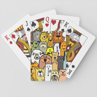 Animated Dogs and Cats illustrations Card Decks