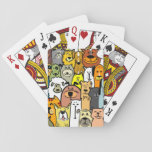 """Animated Dogs and Cats illustrations Playing Cards<br><div class=""""desc"""">dogs and cats background</div>"""