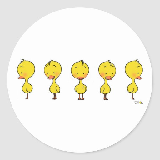 Animated ducky stickers