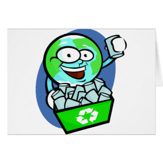 Animated earth recycling greeting cards