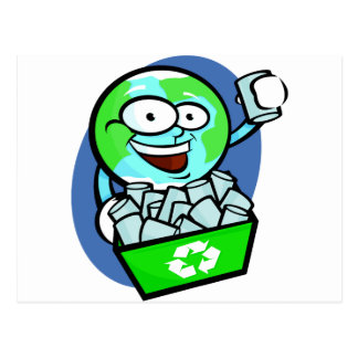 Animated earth recycling postcard