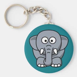Animated Elephant Keychain