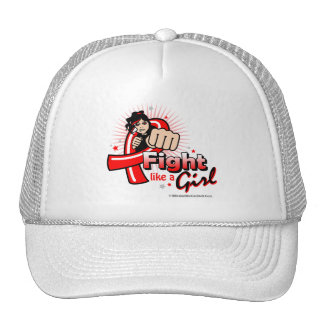 Animated Fight Like A Girl AIDS Trucker Hat