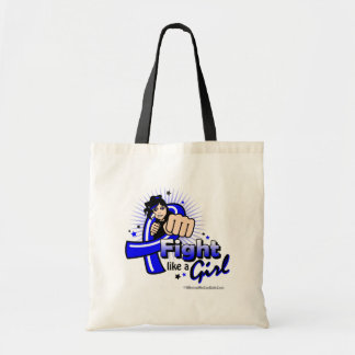 Animated Fight Like A Girl Anal Cancer Budget Tote Bag