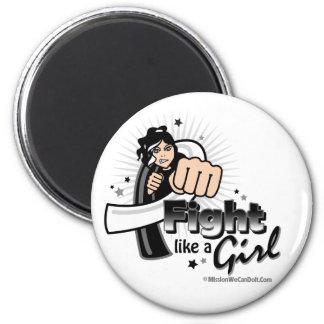 Animated Fight Like A Girl Carcinoid Cancer Fridge Magnet