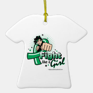 Animated Fight Like A Girl Liver Cancer Ornaments