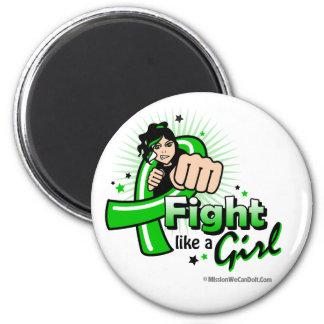 Animated Fight Like A Girl Mental Health Awareness Fridge Magnet