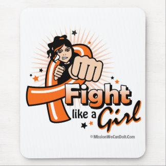 Animated Fight Like A Girl Multiple Sclerosis Mouse Pad