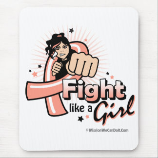 Animated Fight Like A Girl Uterine Cancer Mouse Pad