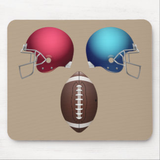 Animated Football and Helmets Mouse Pad