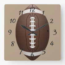Animated Football Square Wall Clock