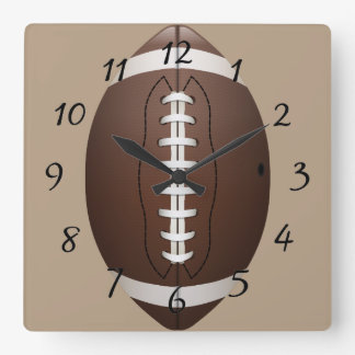 Animated Football Square Wall Clock