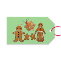 Animated Ginger Bread Family Gift Tags