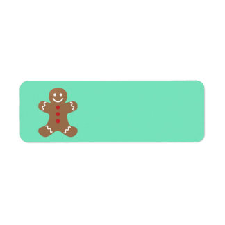 Animated Gingerbread Man return address label