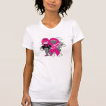 Animated Girl Breast Cancer Sucks T Shirt