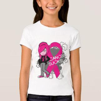 Animated Girl Breast Cancer Sucks T-Shirt
