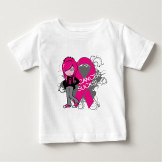 Animated Girl Breast Cancer Sucks Shirt