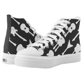 Animated Guitars High-Top Sneakers
