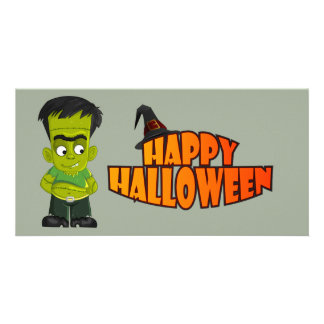 Animated Halloween Frankenstein Card