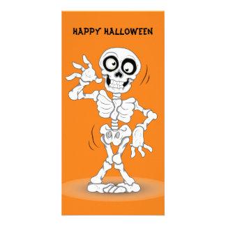Animated Halloween Skeleton Card