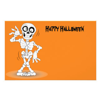 Animated Halloween Skeleton Flyer