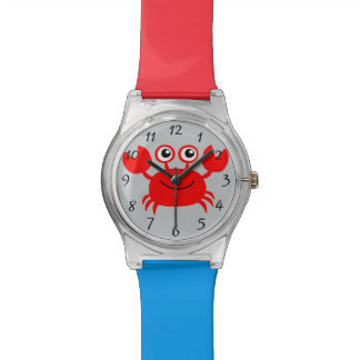 Animated happy crab wristwatch