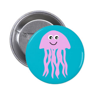 Animated Happy Jellyfish Button