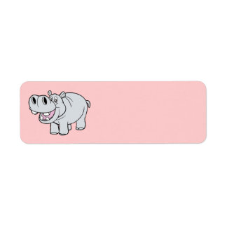 Animated Hippo Label