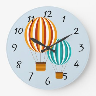 Animated Hot Air Balloon Clock