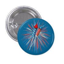 Animated July 4th fireworks and rockets Button