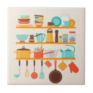 Animated Kitchen Items Tile