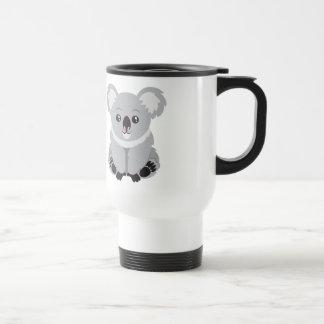 Animated Koala Bear 15 Oz Stainless Steel Travel Mug