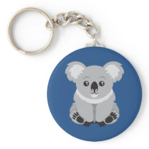 Animated Koala Bear Keychain