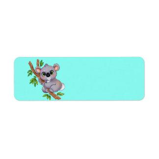 Animated Koala Bear Label