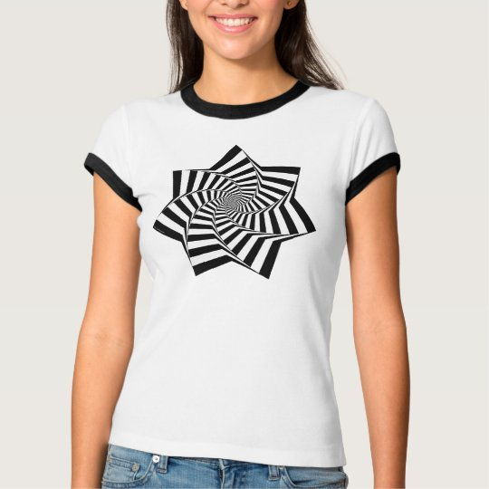 Animated Ladies Ringer Star T-Shirt