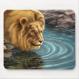 Animated Lion Mouse Pad