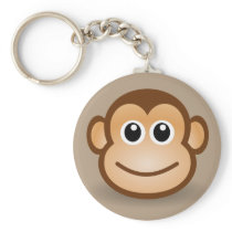 Animated Monkey Keychain
